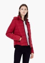Mango Outlet Detachable Hood Quilted Coat