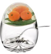 Epicurean 39BO9188L Acrylic SAN Jampot and Spoon with Orange Design in Lid, 11 x 8.5 cm, Clear
