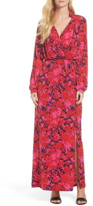 Leota Bridget Faux Wrap Maxi Dress