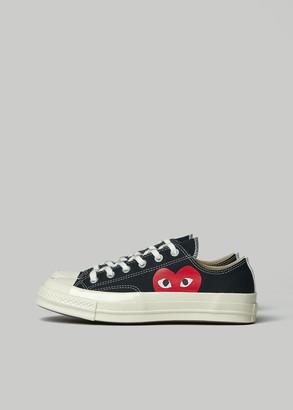 Comme des Garcons Women's Low Top Converse Chuck Taylor Shoes in Black Size 10 Cotton/Rubber
