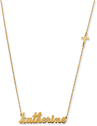 Jennifer Zeuner Jewelry Abigail Personalized Cross Necklace