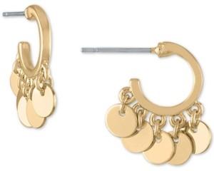 Rachel Roy Gold-Tone Shaky Disc Huggie Hoop Earrings