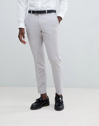 French Connection Slim Fit Wedding Suit Trousers-Stone