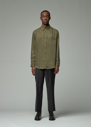 Totokaelo Archive Men's Dallas Cupro Shirt in Military Green Size XS 100% Cupro