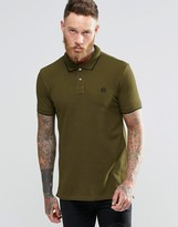 Paul Smith PS by Polo Shirt With PS Logo In Slim Fit Khaki