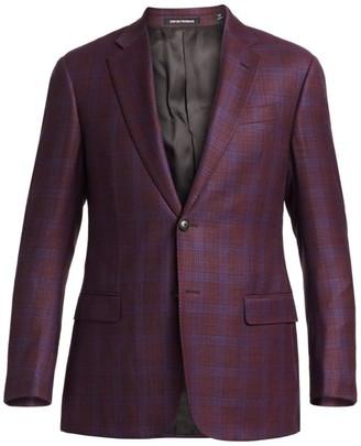 Emporio Armani Two-Button Plaid Sportcoat