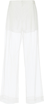 Givenchy Transparent Tulle Wide Leg Trousers