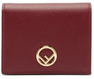 Fendi F Is Grained-leather Wallet - Burgundy