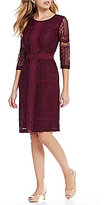 Preston & York Vera Lace 3/4 Sleeve Dress