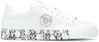Philipp Plein Skull-Print Low-Top Sneakers