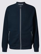Blue Harbour Pure Cotton Zipped Through Sweatshirt