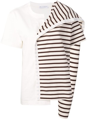 J.W.Anderson Contrast Panel Striped Top