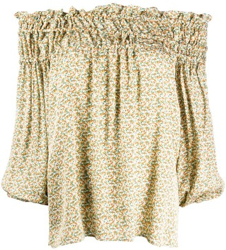 Simonetta Ravizza Off-Shoulder Flared Blouse