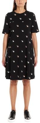 McQ Swallow Print Dress