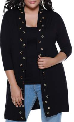 Belldini Plus Grommet Duster Cardigan