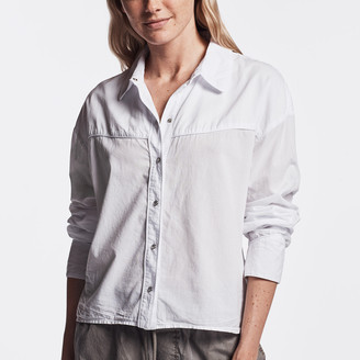 James Perse Embroidered Western Shirt