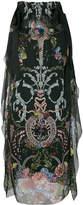 Fendi floral tied shoulder dress