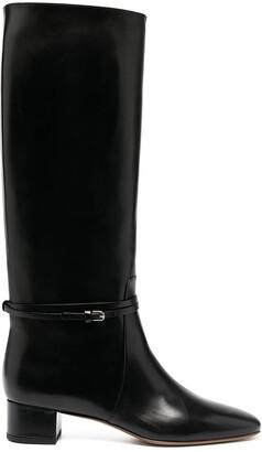 Francesco Russo Block Heel Boots