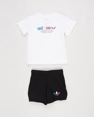adidas Adicolor Shorts & Tee Set - Babies-Kids