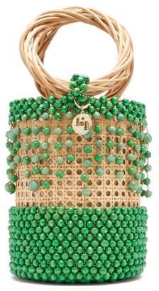 Rosantica Cora Beaded Bucket Bag - Womens - Green Multi