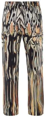 Our Legacy Third Cut Hanabi-print Straight-leg Jeans - Mens - Black Yellow