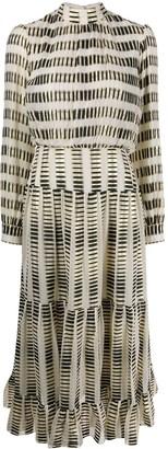 Saloni Silk Blend Midi Dress