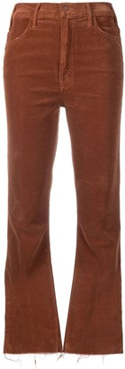 Mother Cropped Corduroy Flares