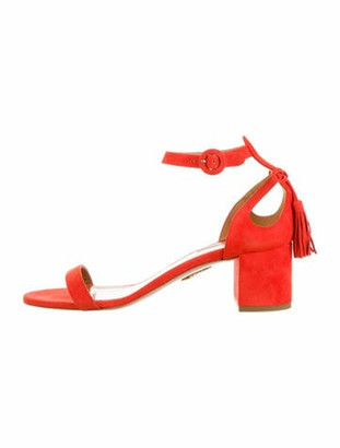 Altuzarra Suede Sandals Red