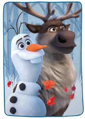 """Disney Frozen Disney's Frozen 2 Olaf & Sven Plush Kids Blanket, 62"""" x 90"""", Wilderness Buddies"""