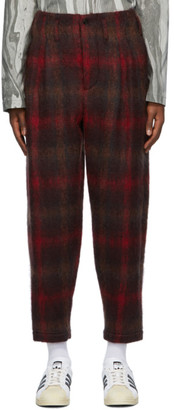 Nicholas Daley Red Two-Pleat Trousers