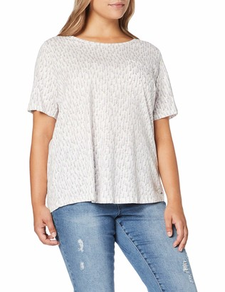 Tom Tailor Women's Offwhite Print 54 T-Shirt