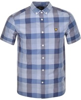 Lyle & Scott Short Sleeved Check Shirt Navy