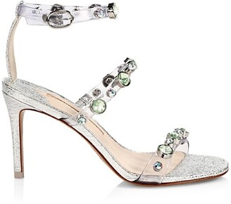 Sophia Webster Rosalind Embellished Vinyl & Metallic Leather Sandals