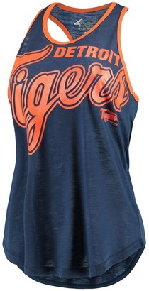 Game Time Women's G-III 4Her by Carl Banks Navy/Orange Detroit Tigers Tank Top