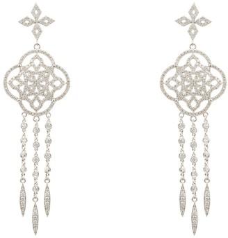 Latelita Celtic Knot Dream Catcher Statement Earrings Silver