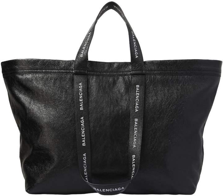 Balenciaga Maxi Shopping Leather Carry Tote Bag