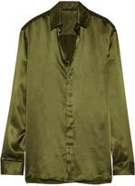 Haider Ackermann Silk-satin Shirt - Army green