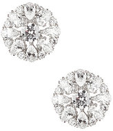 Nadri Cubic Zirconia Cluster Clip-On Stud Earrings