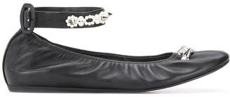 Simone Rocha embellished ankle strap ballerina shoes
