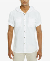 Kenneth Cole Reaction Men's Linen Hooded Shirt