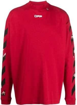 Off-White Caravaggio arrows long sleeved T-shirt
