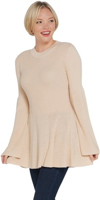 Laurie Felt Cashmere Blend Sweater with Bell Sleeves