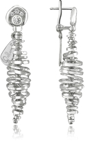 Orlando Orlandini Galaxy - 18K White Gold Drop Earrings
