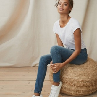The White Company Symons Skinny Jeans - 28 Length, Mid Wash, 6