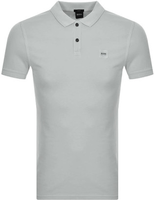 BOSS Prime Polo T Shirt Grey