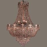 Swarovski Exum 8 - Light Unique / Statement Empire Chandelier Astoria Grand Finish: Roman Bronze, Crystal Type Elements Golden Teak