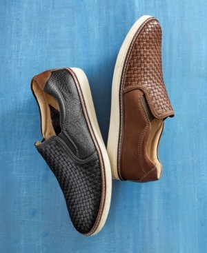 Johnston & Murphy Men's McGuffey Woven Slip-On Loafers Men's Shoes