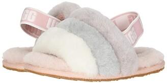 UGG Fluff Yeah Slide (Toddler/Little Kid) (Quartz Multi) Girls Shoes