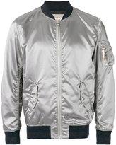 MAISON KITSUNÉ metallic bomber jacket - men - Polyamide/Acetate/Viscose - L