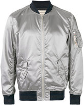 MAISON KITSUNÉ metallic bomber jacket - men - Polyamide/Acetate/Viscose - M